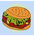 Burger Pop art vector image