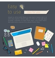 Concepts for digital marketing vector image