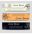 Isoteric banners set with alchemy elements vector image