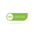 organic sign green vector image