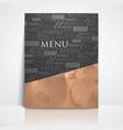restaurant menu design with grunge cardboard vector image