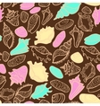 seamless pattern with cute seashells vector image