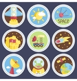 Space Cartoon Icons Collection vector image