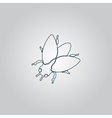Stencil flies icon sign and button vector image