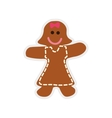 Cookie doll icon Bakery design graphic vector image