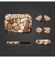 Set of stone different buttons vector image