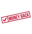Money Back rubber stamp vector image