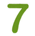 Four Leaf Clover of Alphabet Numbers 7 vector image
