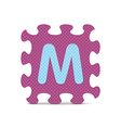 letter M written with alphabet puzzle vector image