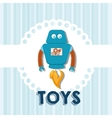 Cute baby toy vector image
