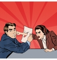 Conflict Between Businessman and Businesswoman vector image