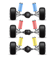 Set car rear suspension vector image