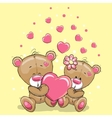 Two Bears with heart vector image
