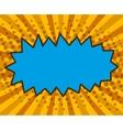 Bubble pop art design vector image
