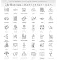 Business management ultra modern outline vector image