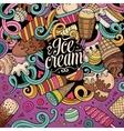 Cartoon hand-drawn doodles Ice Cream vector image