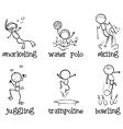 Different indoor and outdoor activities vector image