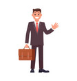 flat design character businessman vector image