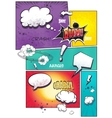 Image comic book pages with different speech vector image