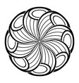 monochrome beautiful decorative ornate mandala vector image