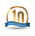 10 years anniversary experience gold label vector image