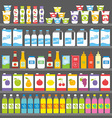 Shelves with Products and Drinks vector image
