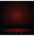 Dark interior vector image