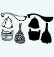 Sauna ready accessories vector image vector image