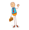 a man with suitcase vector image