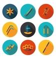 flat icons ninja vector image