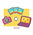 Kawaii gadgets funny card Doodles with pretty vector image vector image