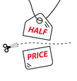 Cut price vector image