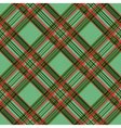 Diagonal checkered tartan fabric seamless texture vector image