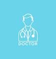 doctor logo icon design vector image
