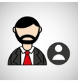 man bearded and character male icon vector image