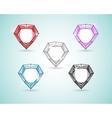 Royal diamond color set vector image