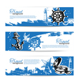 Banner set of travel vintage backgrounds vector image vector image