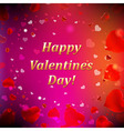 Happy Valentines Day Card With Blur vector image vector image