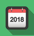 2018 calendar flat icon vector image