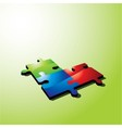 color puzzle vector image vector image