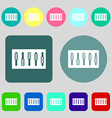 Dj console mix handles and buttons icon symbol 12 vector image