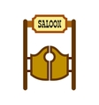Old western swinging saloon doors icon vector image