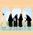 arab women and man vector image