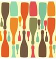 Background with bottles Good for restaurant or bar vector image