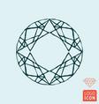 diamond icon brilliant line design symbol vector image