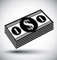 Dollars cash money stack simple single color icon vector image