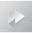 Forward Flat Icon Design vector image