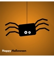 Happy Halloween Label with Spider vector image