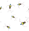 seamless robot pattern vector image