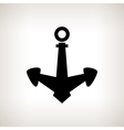 Silhouette anchor on a light background vector image